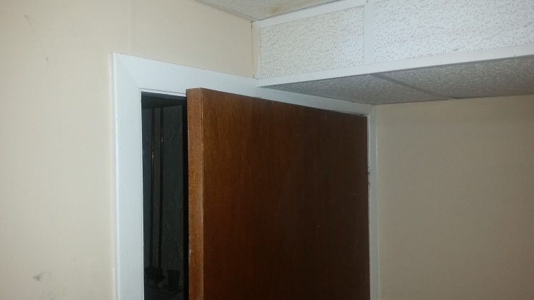 The door to the laundry room.