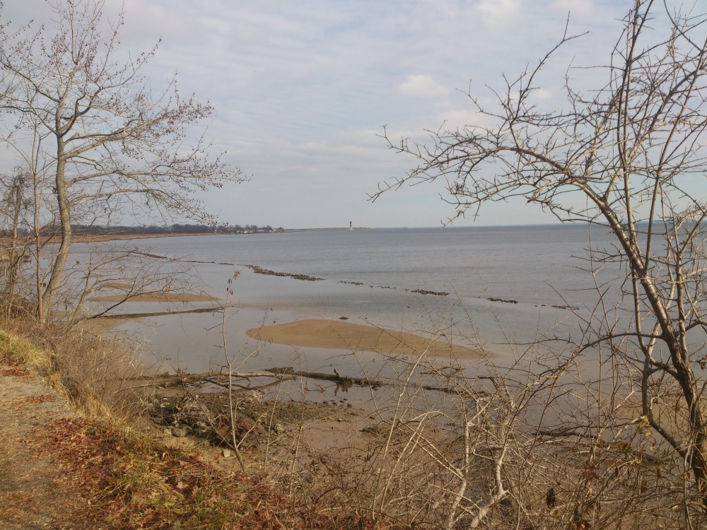 On the shores of North Point State Park