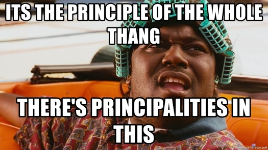 Its the principle