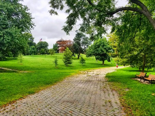 A trail in Baltimore's Patterson Park