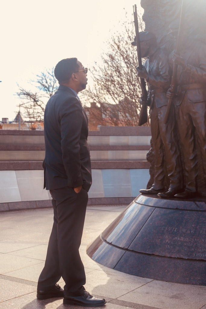 At the African American Civil War Veteran's memorial in Washington DC - which has the the names of  several of my Ancestors inscribed on the base.